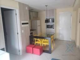 Apartamento com 1 dormitório para alugar, 40 m² por r$ 2.400/mês - meireles - fortaleza/ce