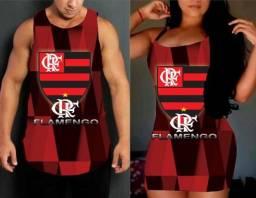Conjunto Casal Times Regata e vestido Times de Futebol