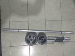 Kit Completo - 20 kg Anilhas Pintadas + Barras - Por : R$ 259,90
