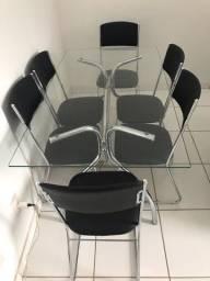 Título do anúncio: Mesa de Vidro com 6 cadeiras
