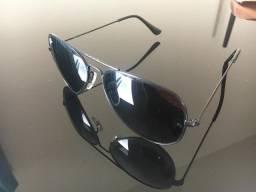 Óculos de sol ray-ban aviador preto/preto