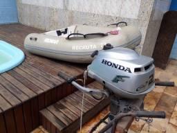 Título do anúncio: Barco inflável Remar 1,80 metros fundo rígido