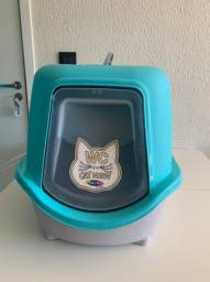 Banheiro Plast Pet para Gatos Cat Box New Azul Tiffany