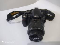 Câmera Nikon D3100 + lente 18~55 mm + acessórios