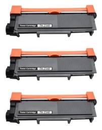 Kit Com 03 Toner Tn2340 Compatível Novo