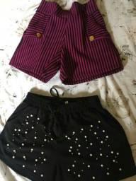 Shorts  10,00 cada