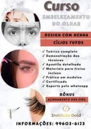Título do anúncio: Curso Embelezamento do Olhar Design com Henna e Cilios Tufos