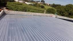 telhados em  estruturas metálicas