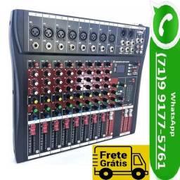 Mesa De Som Bluetooth Usb Mixer Mp3 Digital 8 Canais Le 711 (NOVO)