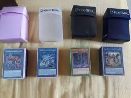 Yu-gi-oh Decks Fechados e bem cuidados incluindo deckbox e sleeves