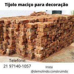 Título do anúncio: Tijolo maciço de demolição