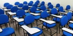 Cadeira universitária para cursos, escola, igrejas, treinamento