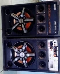 02 Caixas de Som Excellence NKS com 300 Watts, seminova