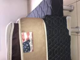 Cama solteiro/ colchão + cama box auxiliar