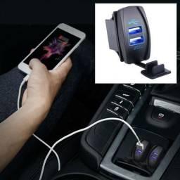 Tomada Usb para carro 12 volts carregado de celular