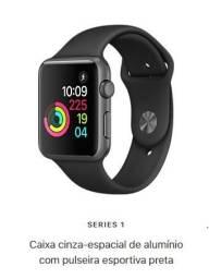 Apple Watch NOVO (Lacrado) - Série 1 - Cinza Espacial e Pulseira Preta