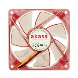 Fan para Gabinete 80mm LED Vermelho Akasa