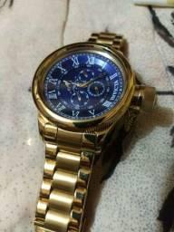 Relógio Invicta ORIGINAL banhado à ouro 18k