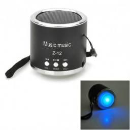 Mini Caixa som Speaker - Pen Drive e Cartão de Memória