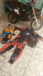 Roupa trilha motocross infantil
