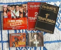 Kit rbd rebelde guia oficial + cd tour generacion + guias temporada + cd diego