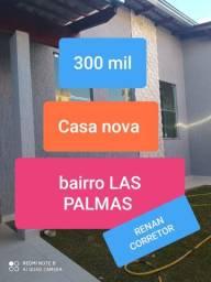 Casa nova bairro las palmas apenas 350 mil fimanciar por qualquer banco