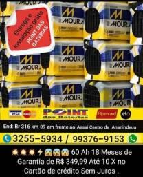 Moura 60 Amperes em Até 10X no Cartão sem Juros Entrega e instalação Grátis