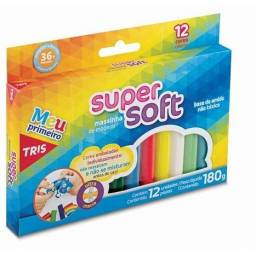 Massa de Modelar Super Soft 12 Cores 180g Tris- Loja minichina