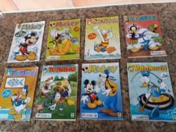 Lote com 10 revistinhas Mickey e Mônica