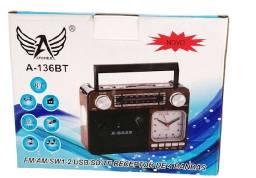 Caixa de Som Rádio X-Bass Retrô