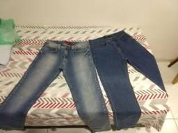 Calças jeans slim fit Hering e Fideli (leia descrição)