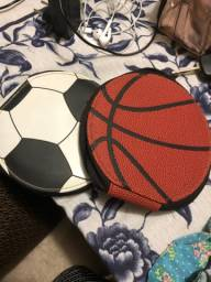 Porta cd e dvd bola futebol e basquete