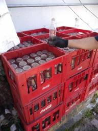 Caixas com garrafas 600 ml coco-cola $400