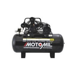 Compressor de ar motomil 15 pés 175lt 3hp 140psi monofásico