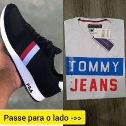 Promoção dos PAIS Kit 1 camisas + 1 tênis ou sapatênis por apenas R$ 130.00