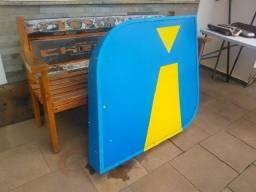 Luminoso Ipiranga Fachada Posto 135x100cm - Funcionando - Decoração Garagem Bar Retrô