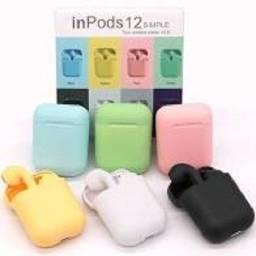 Fone sem fio I12, Bluetooth, colorido! Compativel em qualquer Smartphone