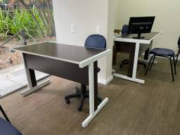 Mesa escritório 1,20m x 50cm com 2 gavetas