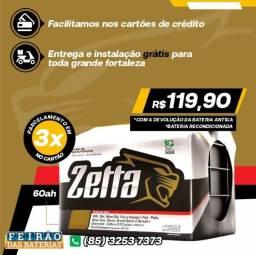 Título do anúncio: Bateria Zetta 60ah para Fiat Uno com Garantia! Você Só Encontra Aqui