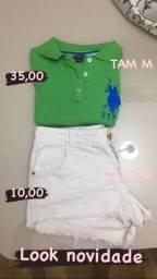 Camisa Ralph Lauren e short