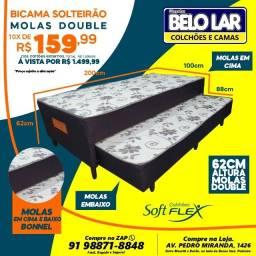 Bi-Cama Solteirão De Mola, Compre no zap *