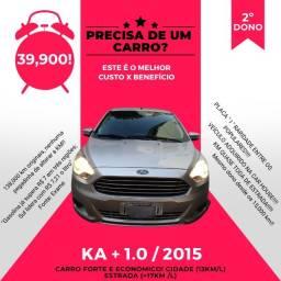 Título do anúncio: KA Sedan 1.0 2015 - 2º DONO