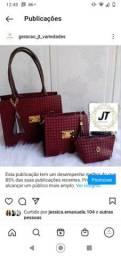 Título do anúncio: Kit com 2 bolsas e uma carteira