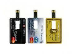 Pen Drive Estilo Cartão De Crédito 64Gb Usb