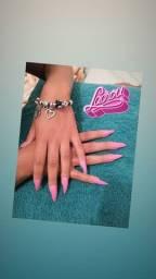 Manicure alongamento na tips