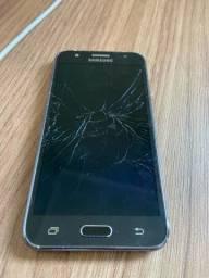 Samsung J5 com a tela quebrada