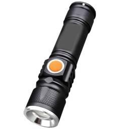 Mini lanterna tática recarregável zoom M2 USB