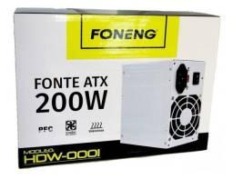 Título do anúncio: Fonte De Alimen. Atx 200w Foneng Hdw-0001 Box+cabo C/ Chave