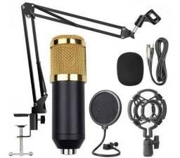 Título do anúncio: Microfone Condensador Pop Filter Aranha Pedestal P2 T10
