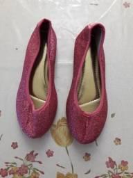 Sapatilha rosa tamanho 30